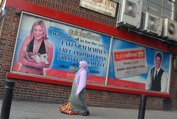 Taken from the number 8 bus on Bethnal Greeen Road, 2007
