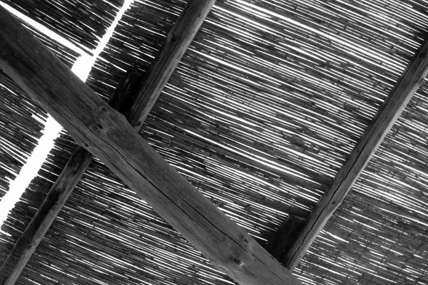 Bamboo roof, Italy c. 1990