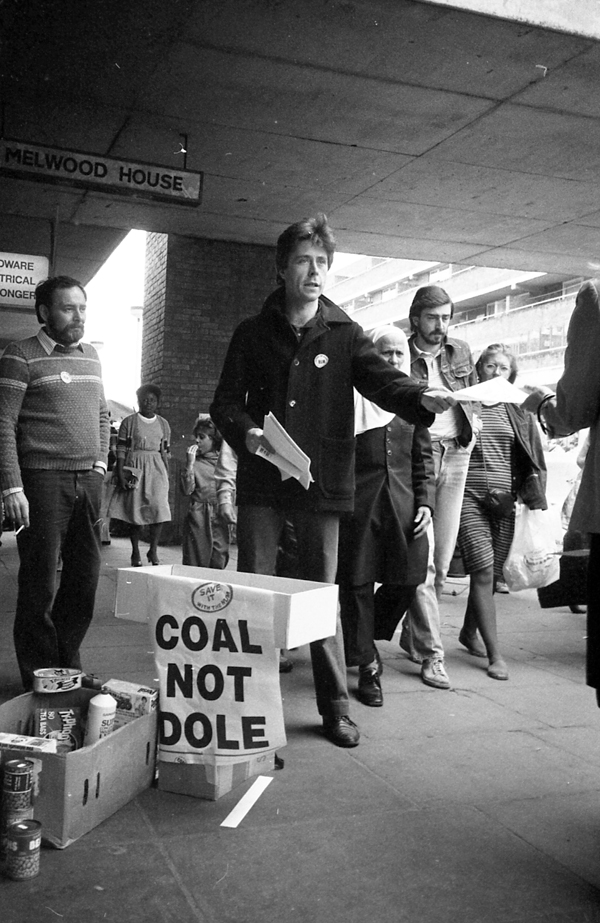 Collecting food and money for the miners in East London 1984