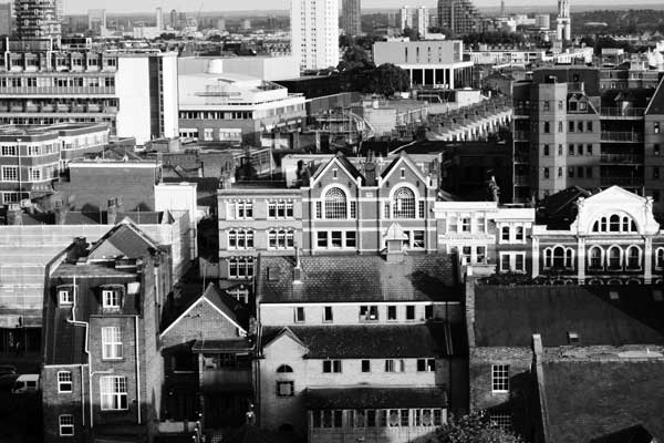 View from Pauline House, Old Montague Street 2014
