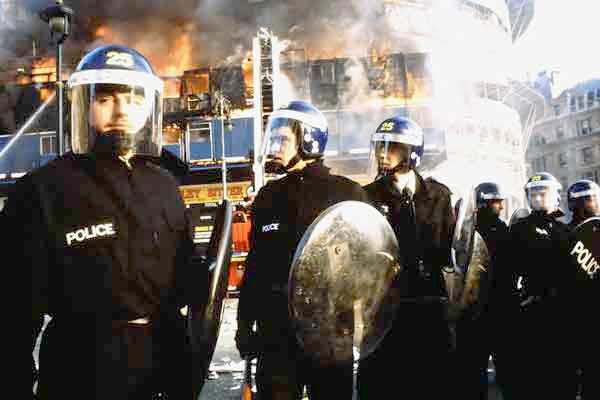 Poll Tax Riot, Trafalgar Square 1990