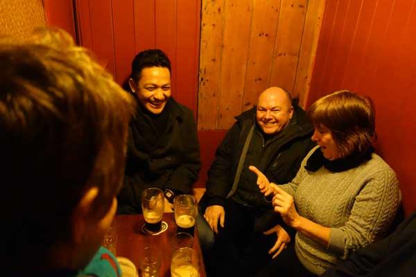 Hazuan, myself and Louise. Quinlans Bar 2015