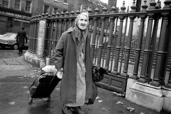 Outside Christ Church Spitalfields c.1984