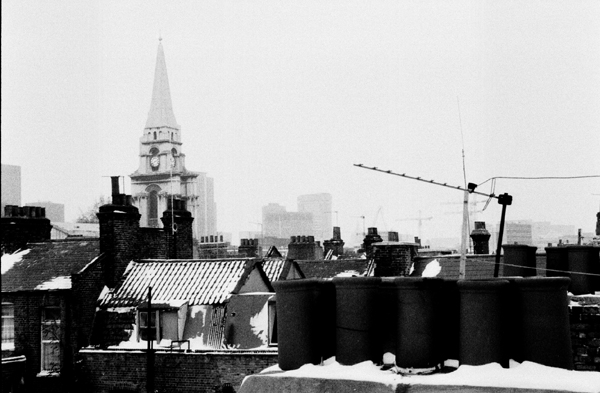 Christ Church from Spitalfields roof top c.1988
