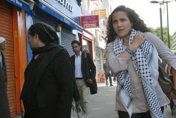 Whitechapel High Street from Altab Ali parl 2004