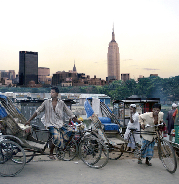 Photomontage: New York & Dhaka 2010
