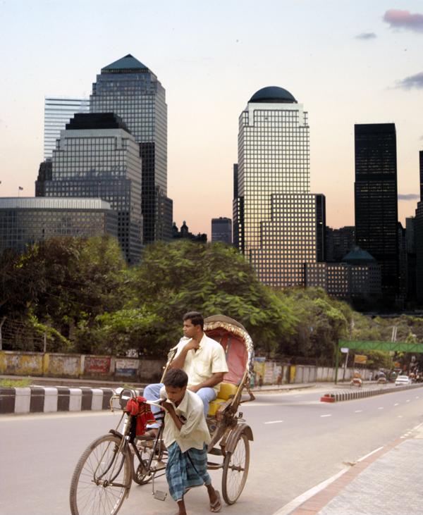 Photonontage: New York and Dhaka 2009