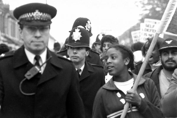 Newham 7 demonstration 1985