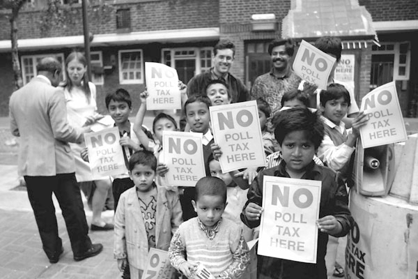 Poll Tax Protesters, Chicksand Estate 1990