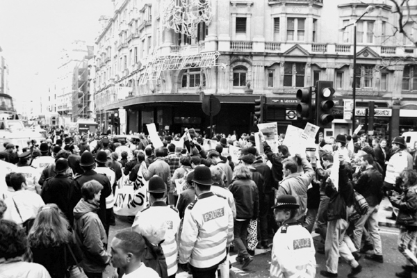"""Outrage' protest 1992"