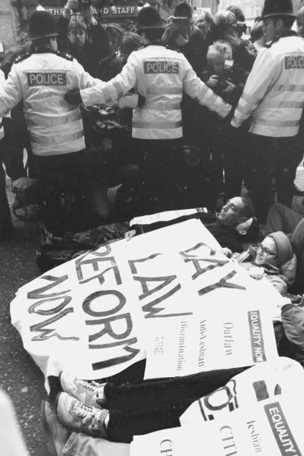 'Outrage' protest 1992