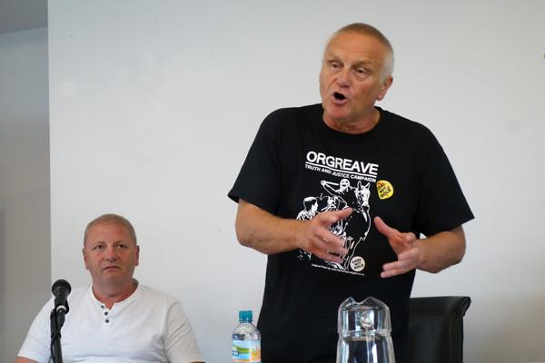 Paul Winter (left) and John Dunn