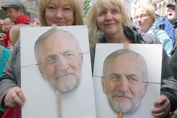 Corbyn supporters in Church Street