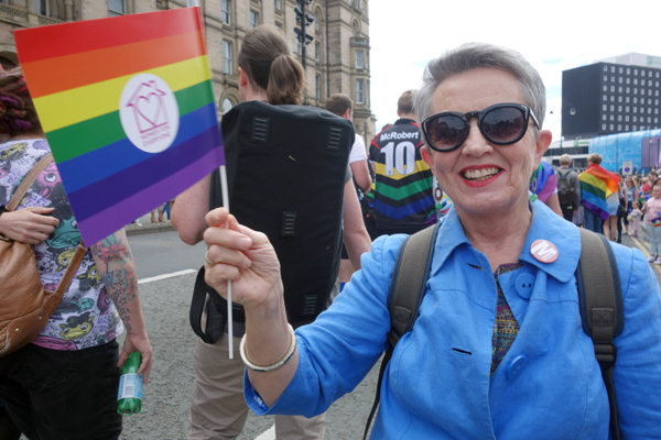 Angela at Liverpool Pride 2016