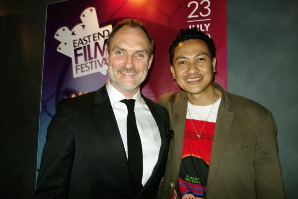 Hazuan with Tyrone Walker-Hebborn, director of the Genesis cinema