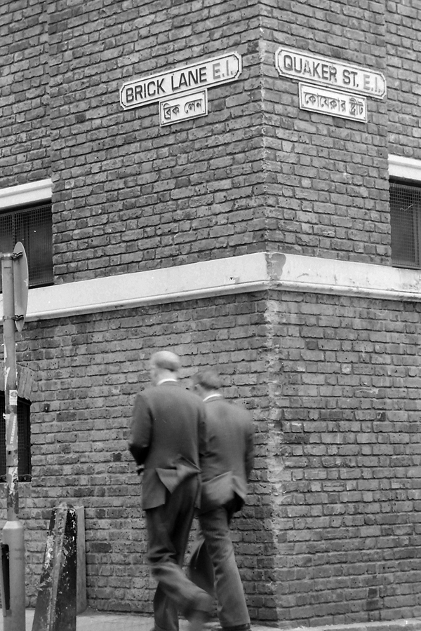 Gilbert & George on Brick Lane 1999