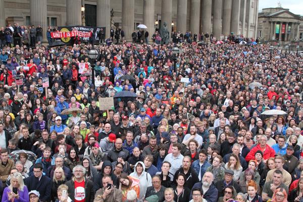What Jeremy Corbyn saw when he addressed the rally (photo Hazuan Hashim)