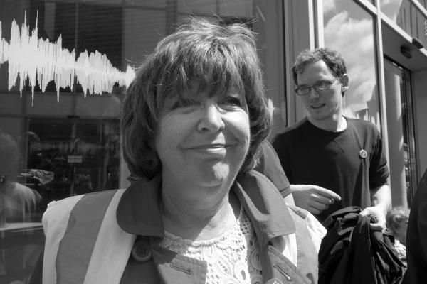 Audrey White outside BBC Radio Merseyside