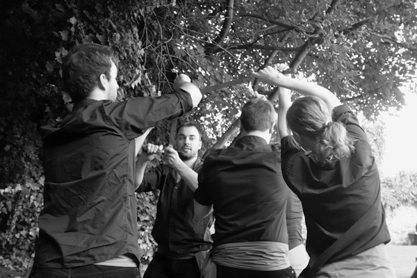 Dance in the Nags Head garden. Shrewsbury 2016