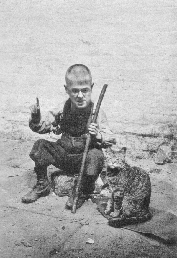 Owen Smith (aged 4) with his pet cat 'Nye' (named after Nye Bevan)