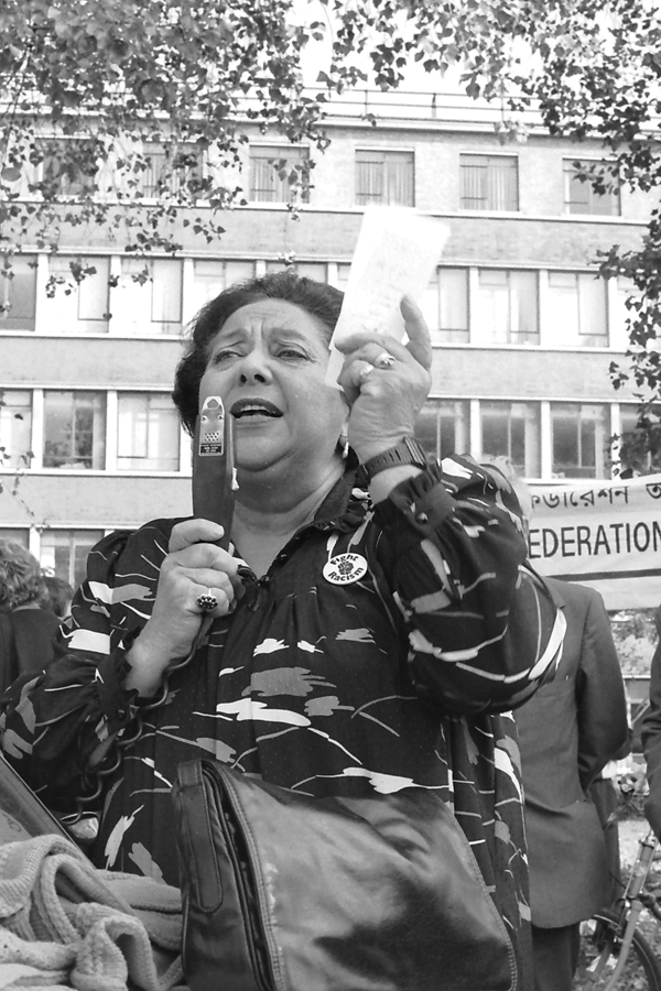 Mildred Gordon MP. Cable Street 50th anniversary celebration in Stepney Green 1986