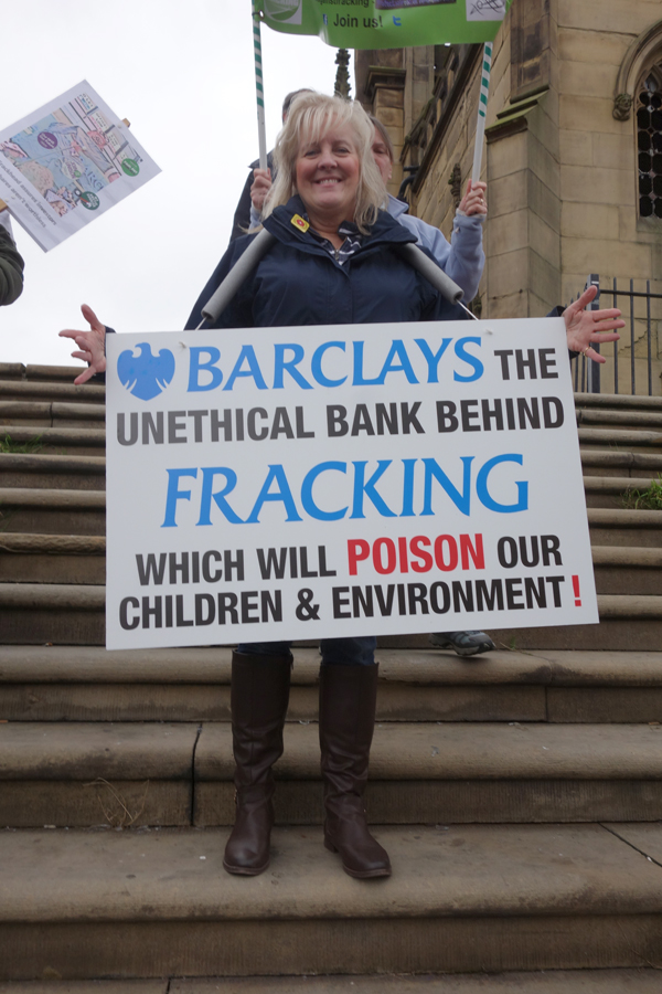 Fracking protest. Liverpool 2016