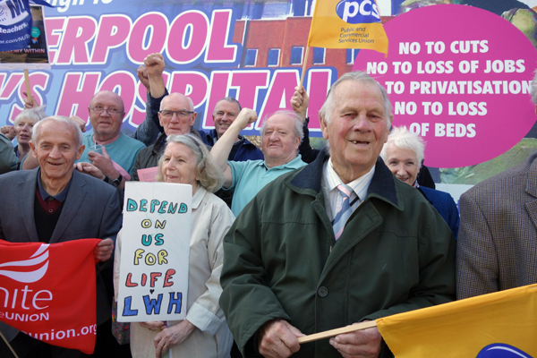 Pensioners campaigning to save Liverpool Women's Hospital