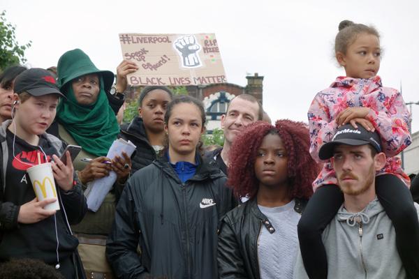 Black Lives Matter demonstration, Liverpool 2016