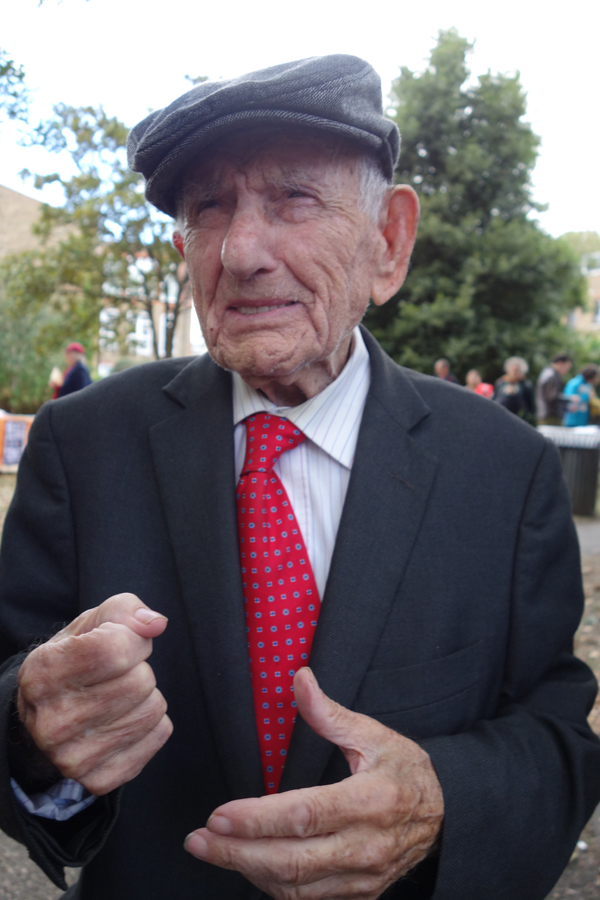 Max Levitas before the start of the rally. 2016