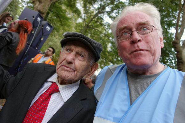 Max Levitas with Vince Quinlivan at the end of the rally 2016