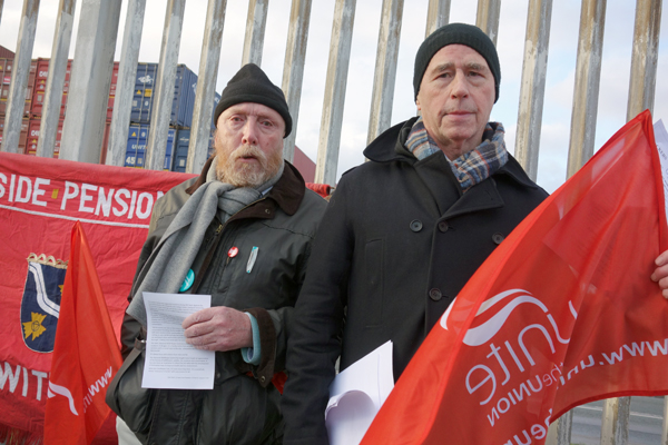 Port protest, Liverpool 2017