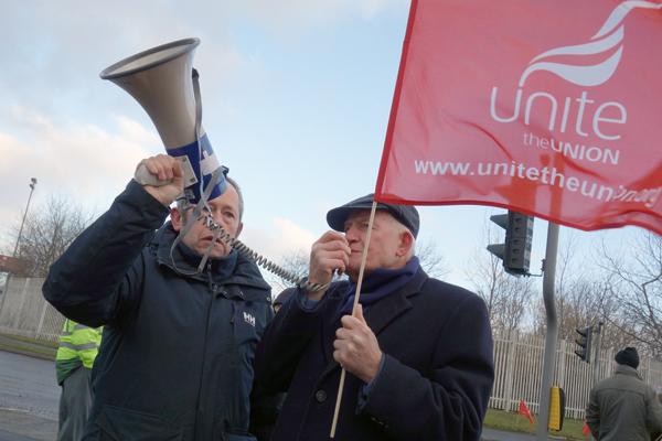 Tony Mulhearn from the Merseyside Pensioners Association addresses the protest, Liverpool 2017