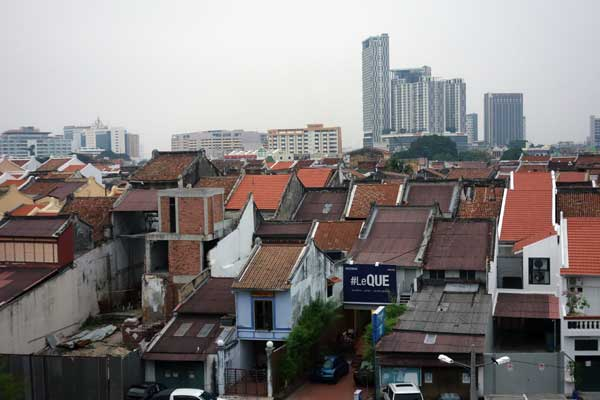Roof tops, Melaka 2015