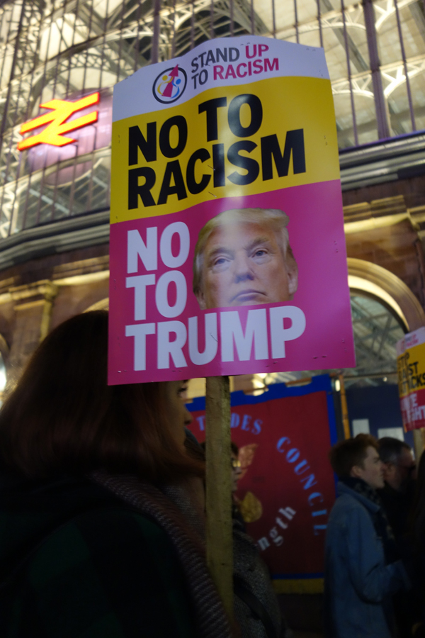 Trump inauguration day protest, Liverpool 2017