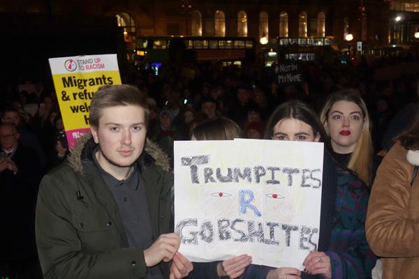 Trump protest, Liverpool 2017