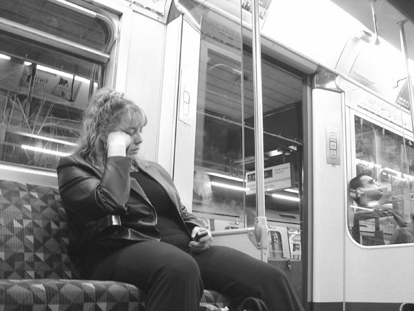 Sleeping on the London Underground 2004