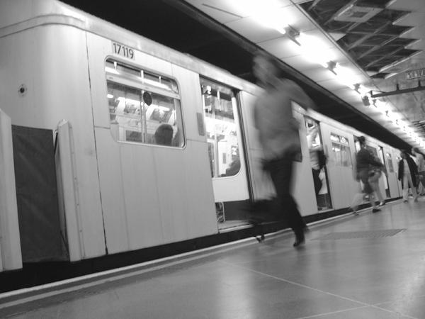 London Underground platform 2004