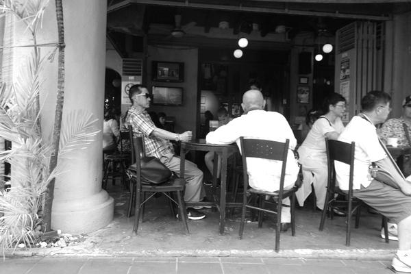 In a bar, Melaka 2015