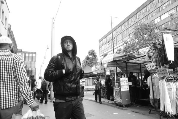 Man with hood, Whitechapel 2015