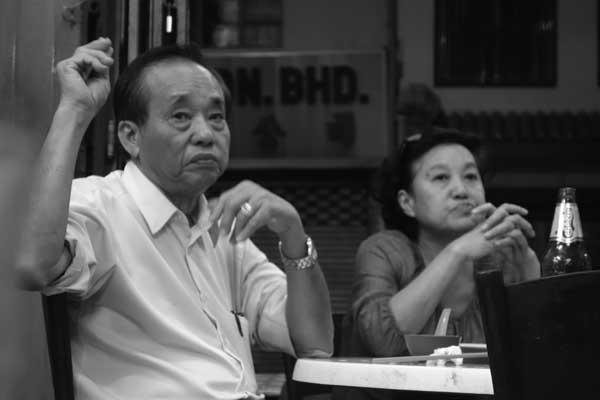 Chinese cafe. Melaka, Malaysia February 2017