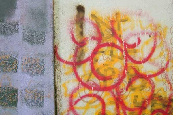 Colours on a wall. Dublin, Ireland 2004
