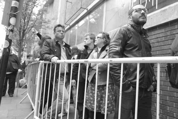 Queing. Brick Lane, London 2014.