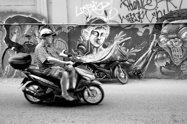 Motorbike. Chaing Mai, Thailand 2017.