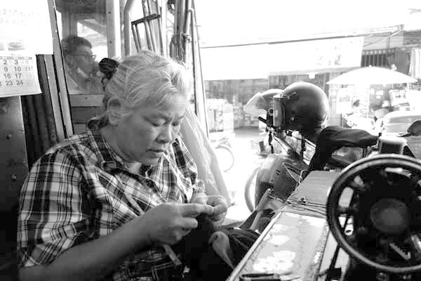 Sewing. Chaing Mai, Thailand 2017.