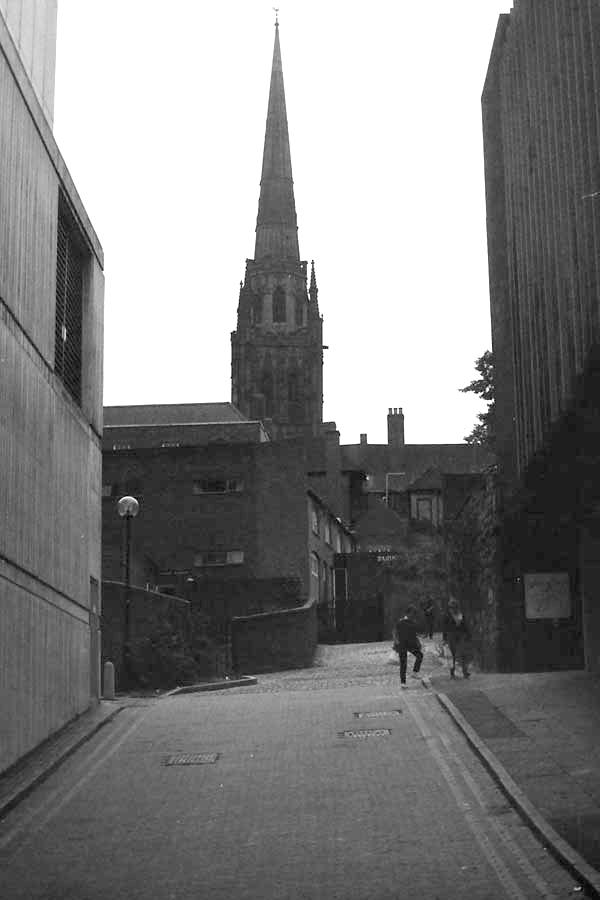 Holy Trinity church spire, Coventry 2017.