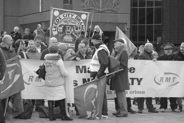 Demonstration in support of Martin Zee. Derby Square. Liverpool March 2017.