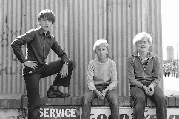Three boys, Liverpool c.1979