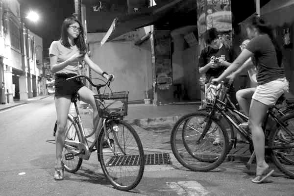 Bicycles. Melaka, Malaysia 2017