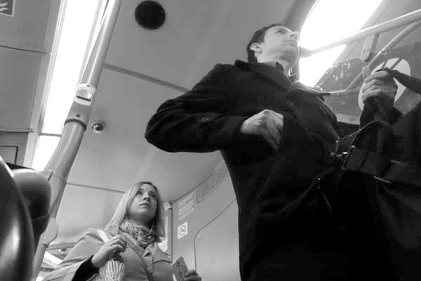 On the 25 bus. East London 2015.