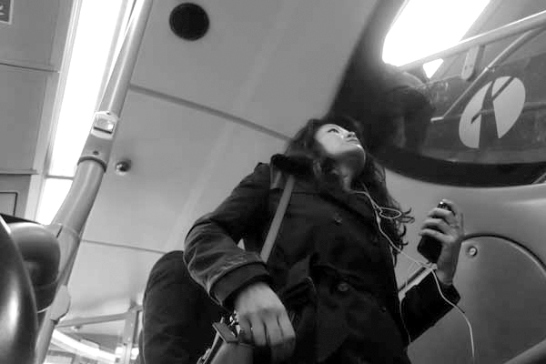 Woman. On the 25 bus. East London 2015.
